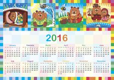 Calendar for 2016 Royalty Free Stock Photography