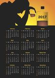 Calendar for 2017 Royalty Free Stock Photo