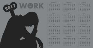Calendar for 2017 Stock Images