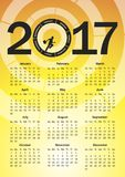 Calendar for 2017 Royalty Free Stock Image