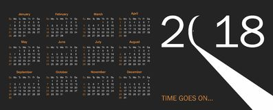 Calendar for 2018 Royalty Free Stock Photo