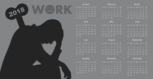 Calendar for 2018 stock photography