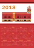 Calendar for 2018 Royalty Free Stock Image