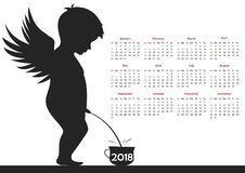 Calendar for 2018. Vector format Stock Images