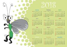 Calendar for 2018 Royalty Free Stock Images