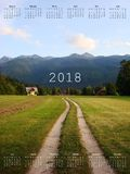 Calendar for 2018. Vector format Royalty Free Stock Photo