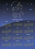 Calendar 2015. Vector calendar 2015 goats on east calendar Stock Photo