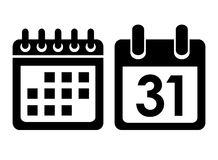 Free Calendar Vector Icon Royalty Free Stock Photography - 34364237