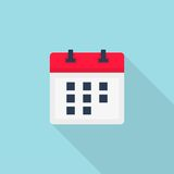 Calendar vector icon. Color illustration calendar vector icon royalty free illustration