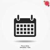 Calendar vector icon. Calendar Isolated Flat vector Web Mobile Icon stock illustration