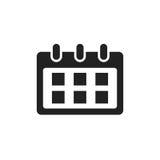 Calendar vector icon. Reminder agenda sign illustration. Busines Stock Images