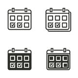 Calendar icon set. Calendar vector icons set. Black illustration isolated for graphic and web design Royalty Free Stock Photos