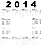2014 Calendar. Vector illustration of 2014 calendar Stock Images