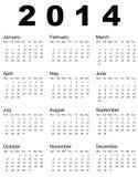2014 Calendar. Vector illustration of 2014 calendar stock illustration