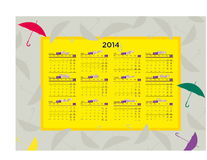 Calendar 2014. Vector illustration of the Calendar 2014 stock illustration