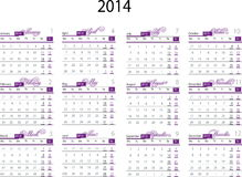 Calendar 2014. Vector illustration of the Calendar 2014 royalty free illustration