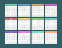Calendar for 2014. Vector illustration of Calendar for 2014 Stock Photography