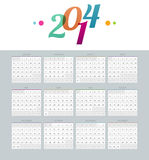 Calendar 2014. Vector illustration of Calendar 2014 vector illustration