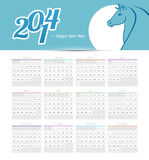 Calendar 2014. Vector illustration of Calendar 2014 royalty free illustration