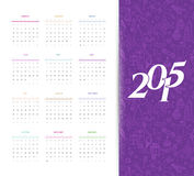 Calendar for 2015. Vector illustration of Calendar for 2015 Stock Image