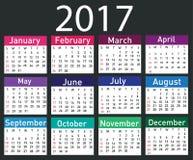 Calendar for 2017 Royalty Free Stock Photo