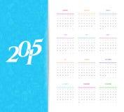Calendar for 2015. Vector illustration (eps 10) of Calendar for 2015 Stock Photography
