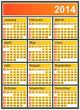 2014 Calendar. Vector illustration of 2014 calendar fully editable eps10 sunday to saturday royalty free illustration