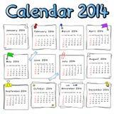 Calendar 2014 Stock Images