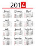 2014 calendar Royalty Free Stock Image