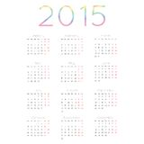 Calendar for 2015 vector. Vector calendar planner schedule 2015 week starts with monday european style Royalty Free Stock Image