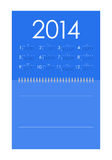 Calendar for 2014. Vector calendar for 2014 with special design Royalty Free Stock Image