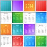 Calendar 2014. Vector template of calendar 2014 Royalty Free Stock Photography