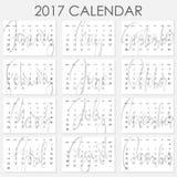 Calendar 2017 - Vector template Stock Photos