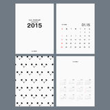 Calendar 2015 vector template. Calendar 2015. vector template. minimal design Royalty Free Stock Photos