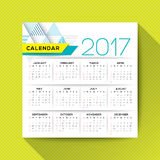 2017 calendar vector template. Simple 2017 calendar vector template, week starts from Sunday, square layout Royalty Free Stock Photos
