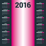 Calendar for 2016 - vector template. For web and print use Stock Photo