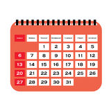 Calendar Vector.Vector illustration of detailed beautiful calendar icon Royalty Free Stock Images