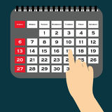 Calendar Vector.Vector illustration of detailed beautiful calendar icon Stock Image