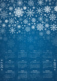 Calendar 2017 Vector Royalty Free Stock Photo