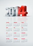 2014 calendar. Vector 2014 year calendar. Elements are layered separately in vector file. Easy editable Stock Illustration