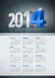 2014 calendar. Vector 2014 year calendar. Elements are layered separately in vector file. Easy editable Royalty Free Illustration