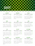 Calendar for 2017 Stock Image