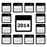 Calendar Vector Royalty Free Stock Photo