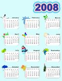 Calendar_vertical 2008 Photographie stock libre de droits