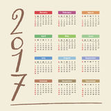 2017 Calendar Stock Photography