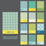 Calendar 2016. Vintage Decorative Elements. In vector stock illustration