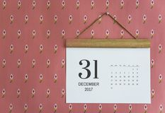 Calendar on the wall isolated royalty free stock photo