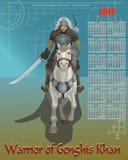 Calendar warrior of Genghis Khan Stock Photos