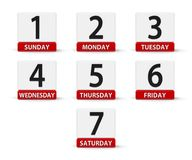 Days of the week #2 Royalty Free Stock Photo