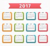 2017 Calendar Stock Photo